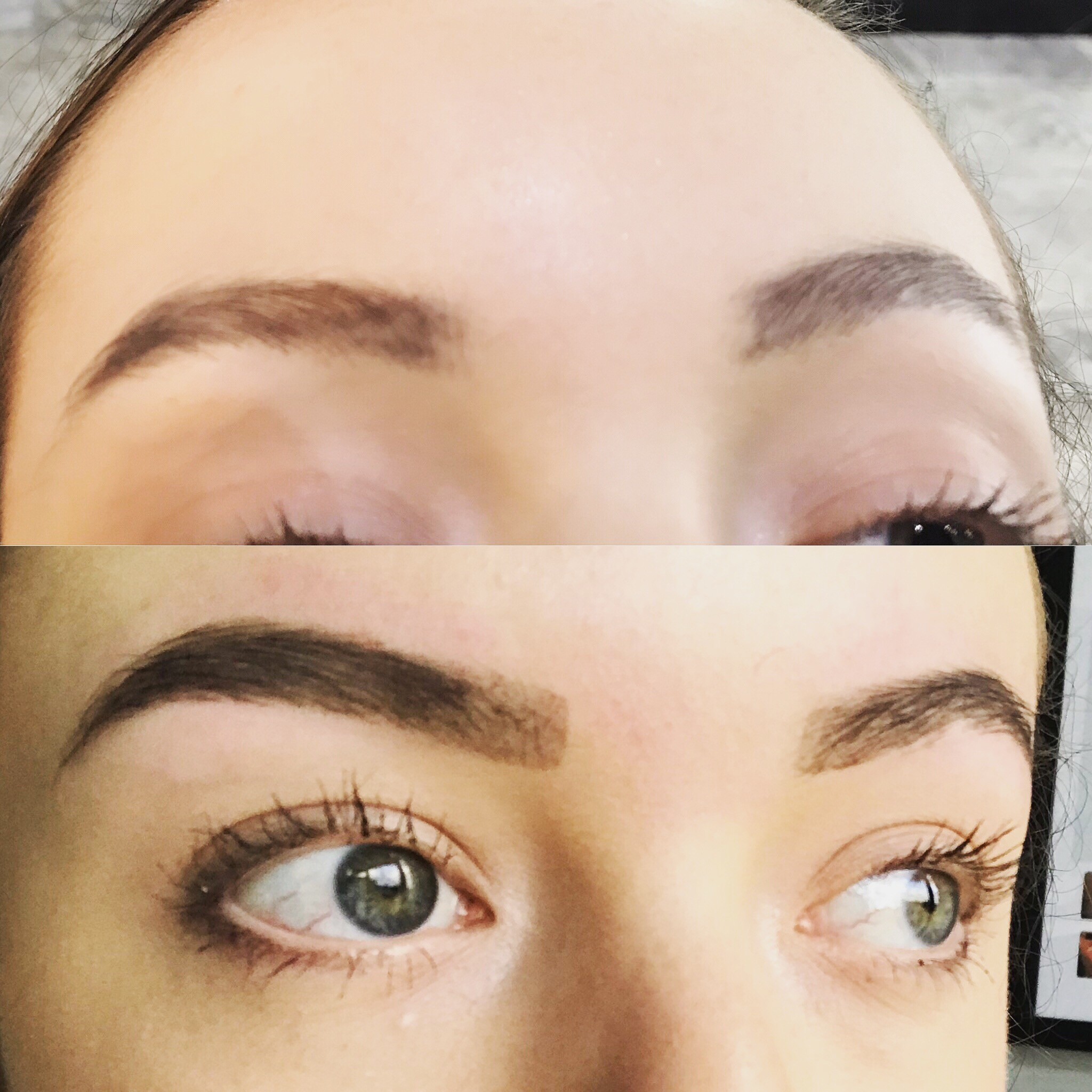 client-after-eyebrow-tinting-and-threading-that-lasts-several-weeks.